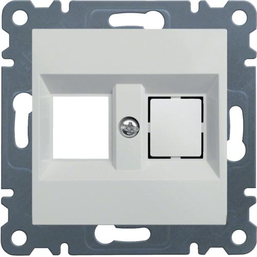 Kryt dvojité datové zásuvky Hager lumina, bílá
