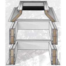 Podkladní šikmá PVC manžeta světlíky DEKLIGHT V=45cm B=100x200