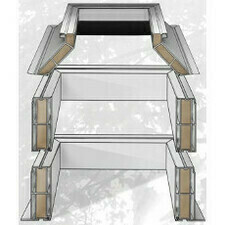 Podkladní šikmá PVC manžeta světlíky DEKLIGHT V=45cm B=100x100