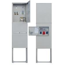 Elektroměrový rozváděč vč. zásuvkové skříně v pilíři, HELGA 2H-N-C
