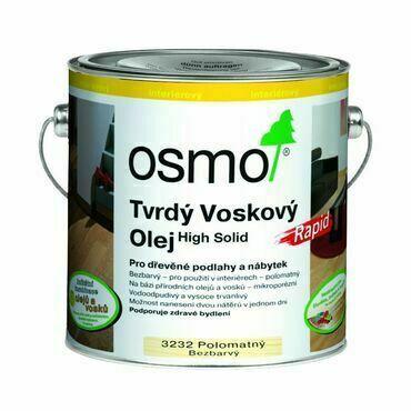 Olej tvrdý voskový Osmo Rapid 3232 bezbarvý 0,75 l