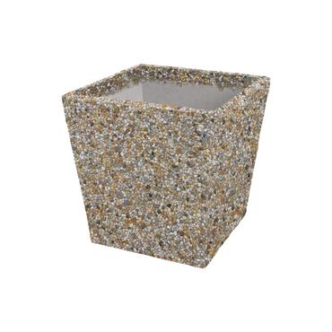 Květináč betonový DITON VINCI I vymývaný dunaj 4-8 400×400×400 mm