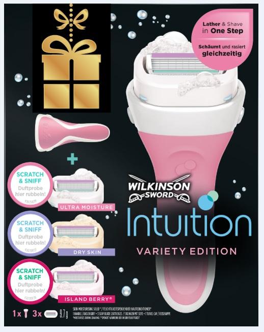 Dárková kazeta WILKINSON Intuition Variety box 3 hlavice + rukojeť