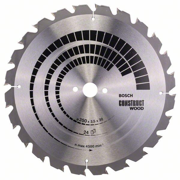 Kotouč pilový Bosch Construct Wood 350×30×2,5 mm 24 z.