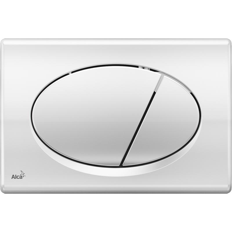 Ovládací tlačítko Alcaplast M71, chrom-lesk
