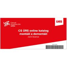CS ÚRS online – KMD Katalog montáží a demontáží – roční licence