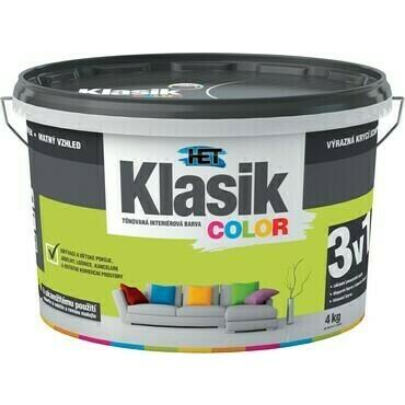 Malba interiérová HET Klasik Color zelený limetkový, 4 kg