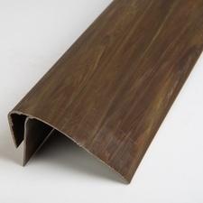 F profil ukončovací plastový tmavé dřevo 3000 mm