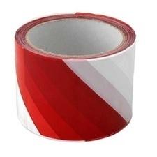 Páska výstražná 70 mm/100m červeno-bílá