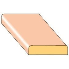 Lišta krycí K2 smrk nastavený 34×8×2000 mm, 25 ks/bal.
