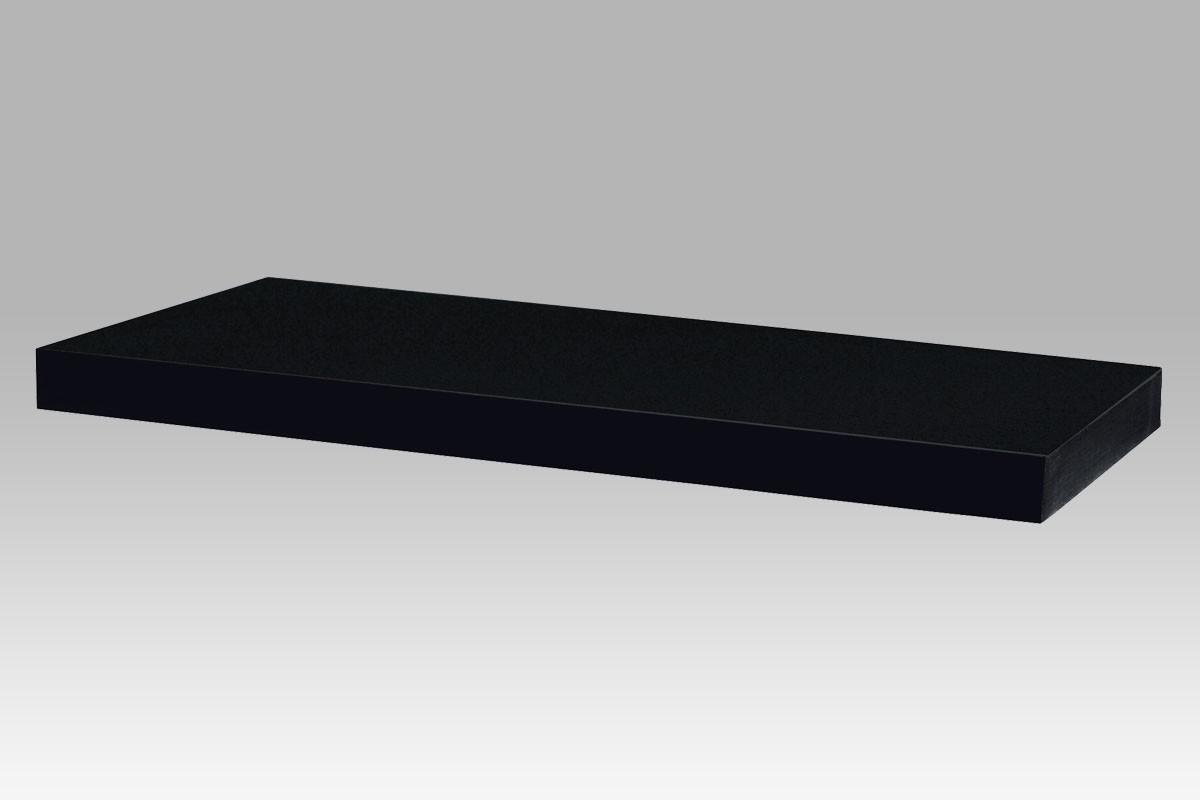 Nástěnná polička 120 cm, barva černá - vysoký lesk, cena za ks