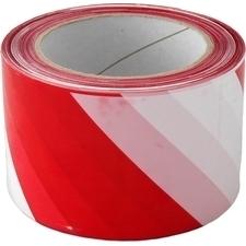 Páska výstražná 70 mm/200m červeno-bílá