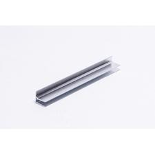 Ukončovací U hliníkový profil s okapnicí pro polykarbonátové desky 6mm, délka 6m
