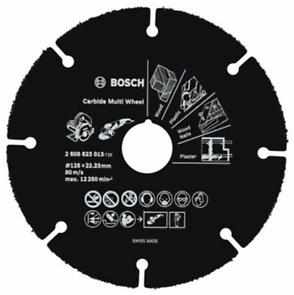 Kotouč řezný karbonový Bosch Carbide Multi Wheel 125×22,23×1 mm