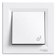 Ovládač tlačítkový zvonkový řazení 1/0, Asfora bílá