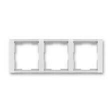 Rámeček horizontální trojnásobný, Time bílá/ledově bílá
