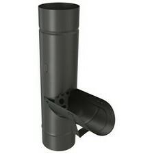Výklopná klapka DEKRAIN 100 FeZn lakovaná ROBUST černá RAL 9005