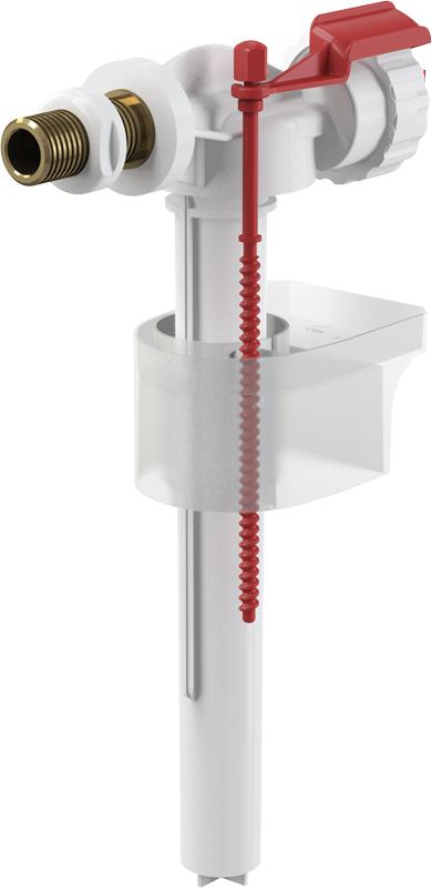 """Napouštěcí boční ventil Alcaplast A16-3/8"""" kovový závit pro keramické nádržky"""