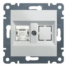 Zásuvka datová CAT6 1xRJ45 Hager lumina, bílá
