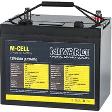 Lítiová batéria M-CELL 12 V 100 ah + 20A nabíjačka.
