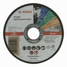 Rovný rezací kotúč Bosch Rapido Multi Construction, priemer 115 mm (25ks/obj)