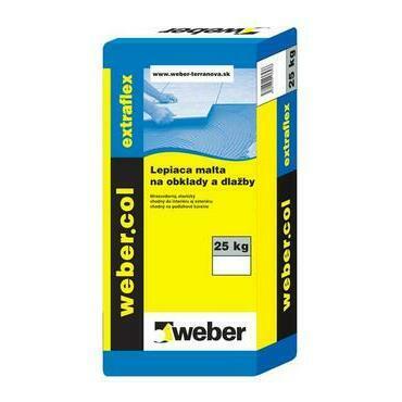 Lepiaca malta so sníženou prašnosťou na obklady a dlažby Webercol extraflex F615 C2TE, 25kg