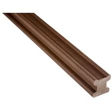 Drevoplastový nosič WPC WOODPLASTIC 50×50 mm (3m) hnedá
