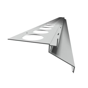 Balkónový profil DRIP PLUS 20 mm, dĺžka 2,5 m, elox strieborný