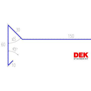 VIPLANYL PVC poplastovaná záveterná lišta r.š. 250 mm / 2 m