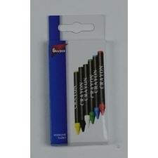 Voskové ceruzky, sada 6 ks/bal.