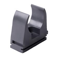 Príchytka PVC pre rúrky tmavo šedá pr. 20 mm (10ks / bal)