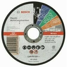 Rovný rezací kotúč Bosch Rapido Multi Construction, priemer 125 mm, hrúbka 1,6 mm (25ks/obj)