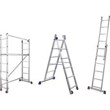 Rebrík hliníkový s úpravou na pracovnú plošinu DEK
