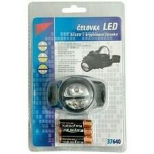 LED svietidlo - čelovka s 3 diódami, 3 AAA