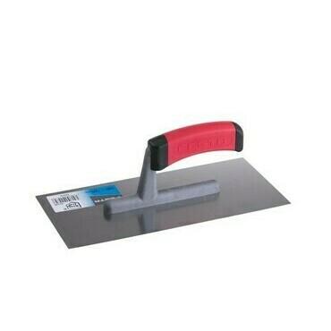 Nerezové hladké hladidlo 280x130 mm s gumovou rúčkou