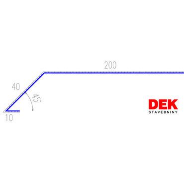 VIPLANYL PVC poplastovaná odkvapová lišta r.š. 250 mm / 2 m