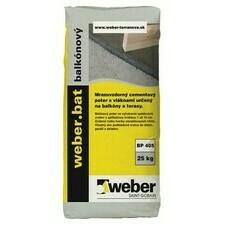 Spádový cementový poter Weberbat balkónový poter, 25kg