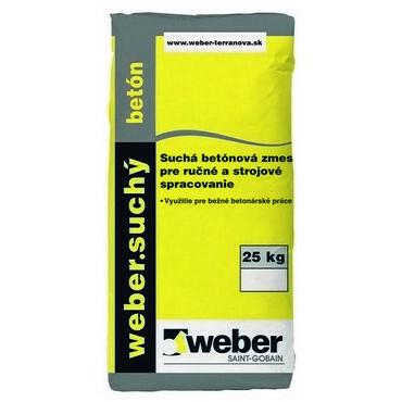 Góra Suchá betónová zmes pre ručné spracovanie Weber suchý betón, 25kg LA69