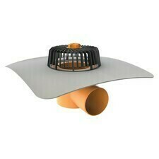 Vodorovný strešný vtok TW 110 PVC V s integrovanou PVC manžetou