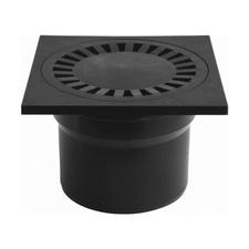 Podlahová vpusť  HACO PVB DN 110 spodná čierná