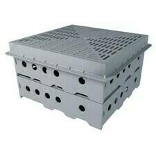 Kontrolná šachta pre vegetačné strechy TWZ 300x300x230 mm s krycou mriežkou