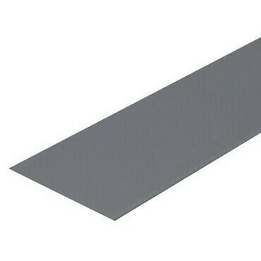 Poplastovaný plech VIPLANYL PVC tabuľa 2×1 m, svetlo šedý RAL 7040