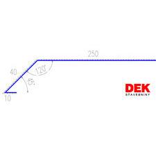 VIPLANYL PVC poplastovaná odkvapová lišta r.š. 300 mm / 2 m