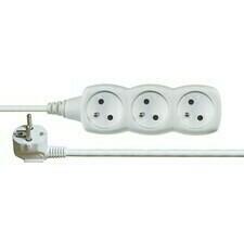 Kábel predlžovací PVC biely 230 V 5 m / 3 zásuvky