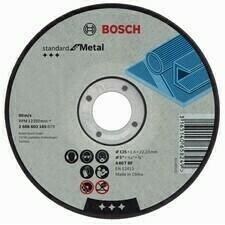 Rovný rezný kotúč na kov Bosch Standard for Metal, priemer 125 mm (25 ks/obj)