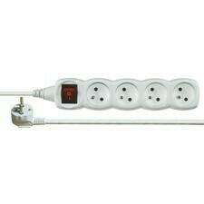 Predlžovací prívod 5 m/250 V s 4 zásuvkami a vypínačom