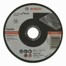 Rezný kotúč na nehrdzavejúcu oceľ Bosch Standard for Inox-Rapido,priemer 125 mm, hr. 1 mm (25ks/obj)