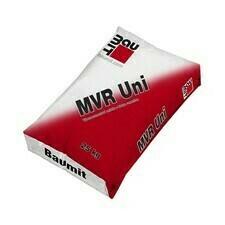 Biela vápennocementová omietka Baumit MVR Uni, 25 kg