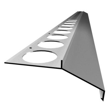 Balkónový profil MAXI 2,5 m, elox strieborný