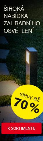 Výprodej zahradního osvětlení